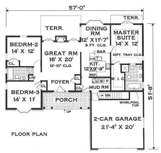 Красивый дом План одноэтажного каркасного дома 17 на 16 142 кв м
