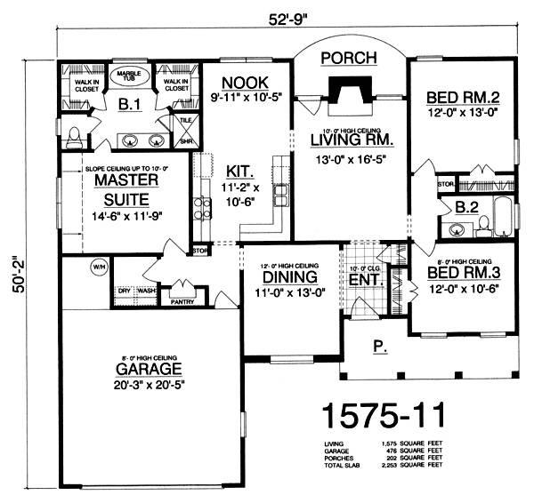 План 1 этажа План 1-этажного дома 16x15 146 кв м