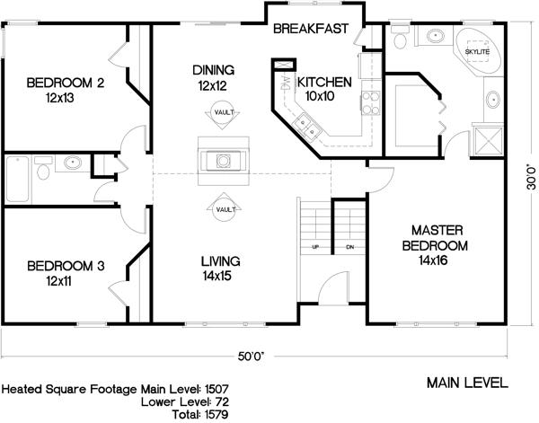 План 1 этажа План 2-этажного дома 15x9 147 кв м