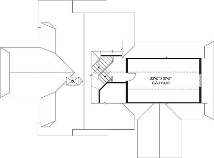 План 2 этажа План 1-этажного дома 18x13 180 кв м