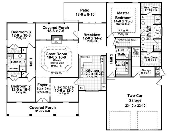План 1 этажа План 1-этажного дома 21x17 187 кв м