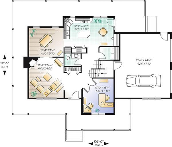 План 1 этажа План двухэтажного дома дома 17 на 12 198 кв м