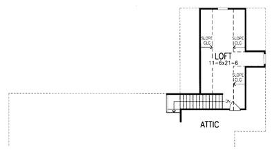 Дополнительная комната на мансарде План 2-этажного дома LC-8478-2-3 с большими верандами спереди и сзади