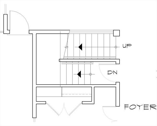 План цокольного этажа План 2-этажного дома AM-7001-2-4 с 4 спальнями и верандой перед домом