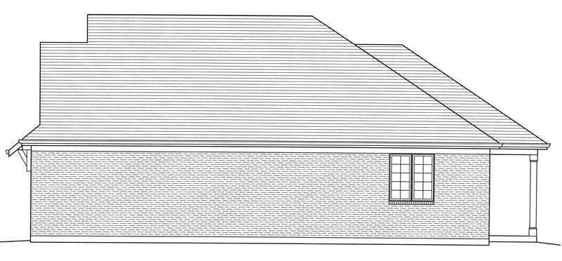 Вид справа Проект дома в стиле Прованс с вальмовой крышей и выступающим гаражом