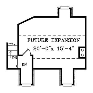 План 2 этажа Проект дома