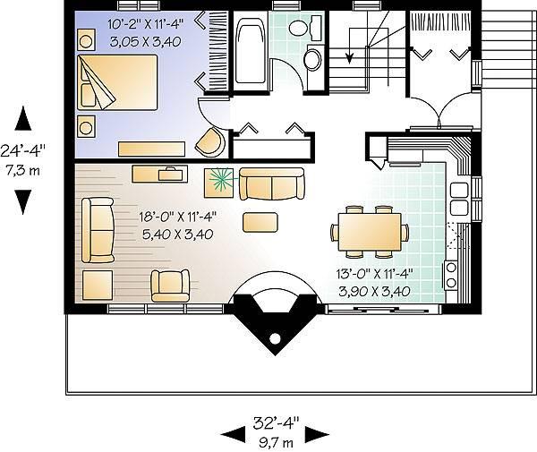 Отличный проект одноэтажного дома  9 на 7 метров площадью  до 150 кв.м с 3 спальнями подходит для постоянного проживания. Также перед домом есть веранда..