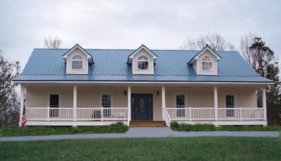 Интересный проект одноэтажного дома с пристроенным гаражом создающим г-образную форму плана и с 4 спальнями подходит для постоянного проживания.