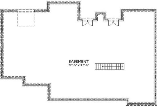 План цокольного этажа План 2-этажного дома KD-5533-2-4