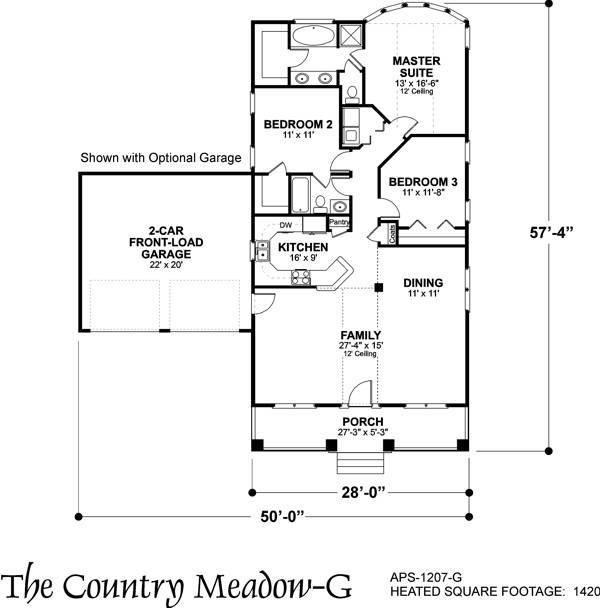 План 1 этажа План одноэтажного дома с верандой и голландской крышей