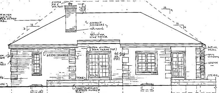 Проект каркасного дома План 1-этажного дома 16x14 141 кв м