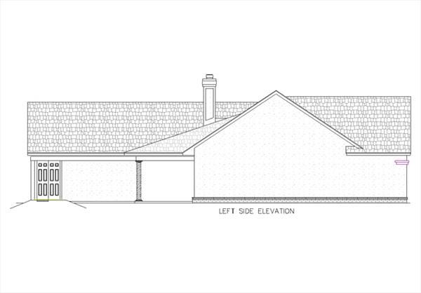 Красивый дом План 1-этажного дома KD-5368-1-3 с навесом для машин 174 кв м