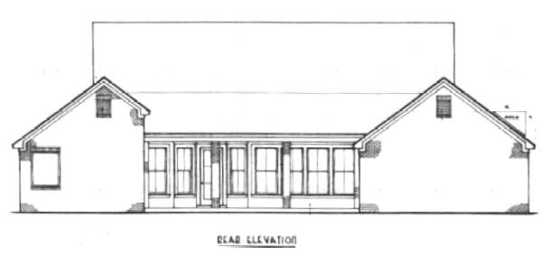 Вид сзади План 1-этажного дома с большим внутренним двориком