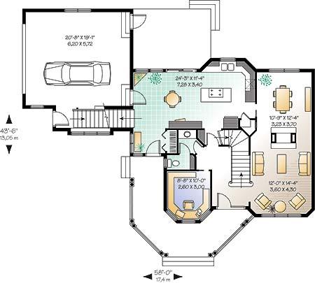 Этот прекрасный проект двухэтажного каркасного дома в английском стиле площадью  до 200 кв.м с гаражом на 2 машины и 3 спальнями подходит для постоянного проживания. В большой спальне есть ванная. Также перед домом есть веранда..