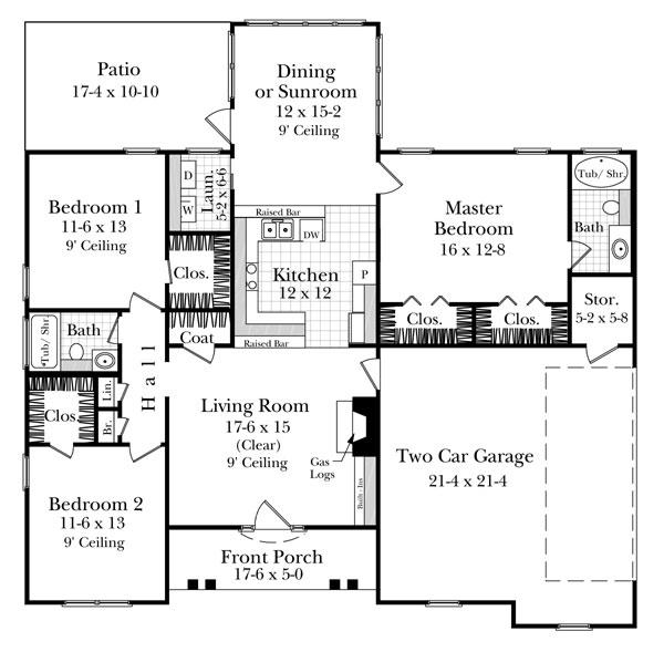 План 1 этажа Проект одноэтажного дома до 140 кв м в стиле прованс