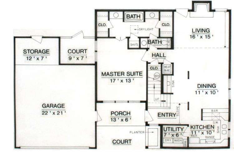 План 1 этажа План одноэтажного дома с мансардой 147 кв м
