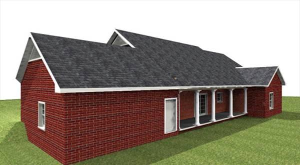 Этот прекрасный проект одноэтажного дома  площадью  до 200 кв.м с гаражом на 2 машины и с 4 спальнями подходит для постоянного проживания. Также перед домом есть веранда..