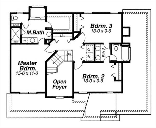 План 2 этажа Проект 2-этажного дома 13x11 156 кв м