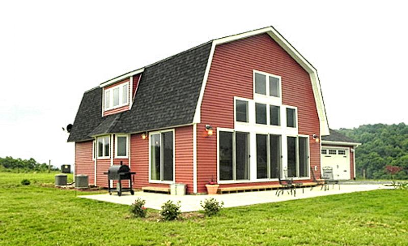 Проект дома с мансардной крышей План дома с ломанной крышей и башней