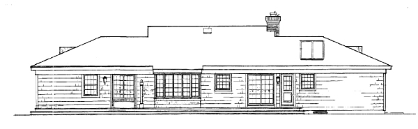 Вид сзади План 1-этажного дома 23x8 137 кв м