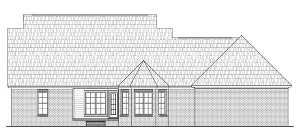Вид сзади План 1-этажного дома с маленькой мансардой KD-8567-1-3 151 кв м