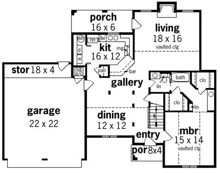 План 1 этажа План 2-этажного дома 17x13 160 кв м