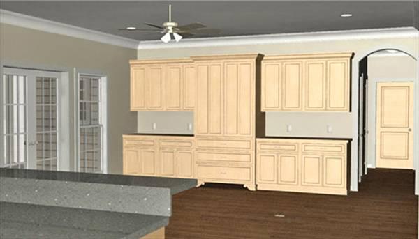 Дизайн кухни План 1-этажного дома с 3D планами