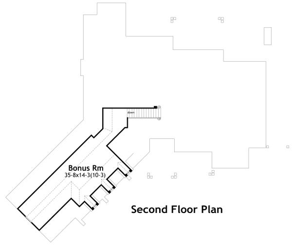 План 2 этажа Проект одноэтажного дома в стиле прованс с гаражом на 3 машины