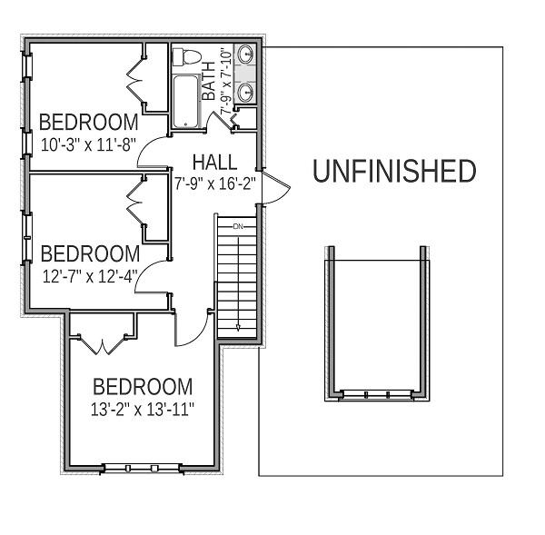 План 2 этажа План 2-этажного дома 14x25 254 кв м