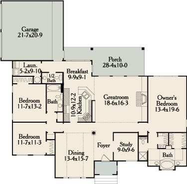 План 1 этажа План 1-этажного дома 20x19 195 кв м