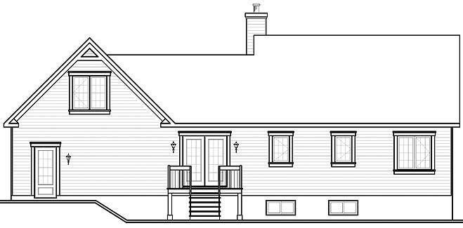 Вид сзади План дома с мансардой и гаражом до 150 кв. м: планировка с 3 спальнями на мансарде