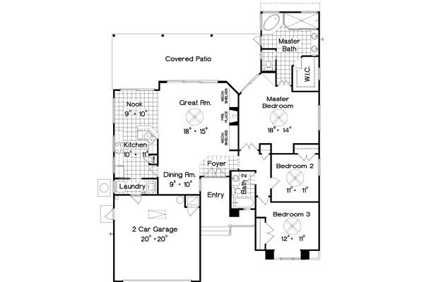 Популярный проект одноэтажного дома в стиле кантри площадью  до 200 кв.м с гаражом на 2 машины и с 3 спальнями подходит для постоянного проживания. В большой спальне есть ванная. Также перед домом есть веранда..