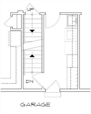 Вариант расположения лестницы в подвал План 1-этажного дома  в стиле кантри