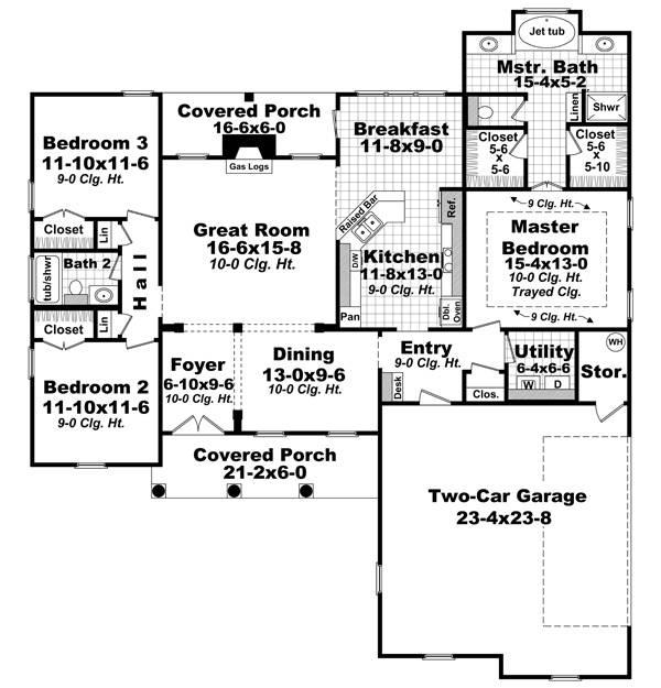 План 1 этажа План 1-этажного дома 17x19 168 кв м