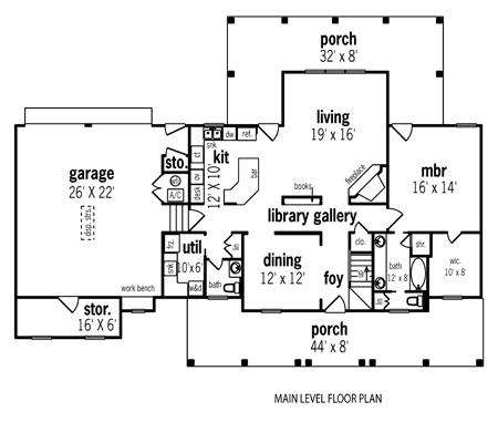 План 1 этажа План 1-этажного дома в стиле прованс с вторым светом