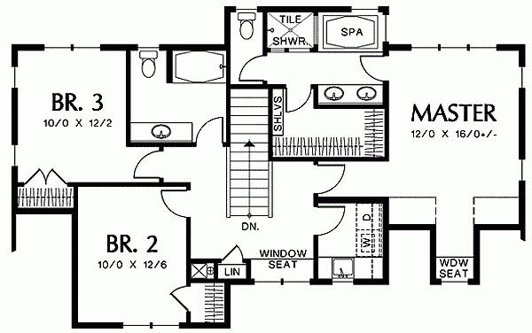 Этот популярный проект двухэтажного каркасного дома в стиле кантри площадью  до 200 кв.м с гаражом на 2 машины и с 3 спальнями подходит для постоянного проживания. В большой спальне есть ванная. Также сзади дома пристроена веранда..