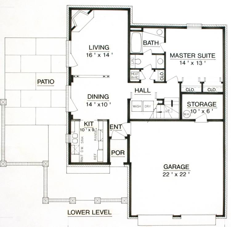 План 1 этажа План 2-этажного дома 11x15
