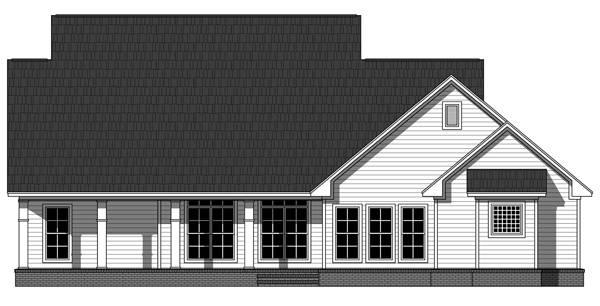 Вид сзади Проект симпатичного одноэтажного дома со слуховыми окнами на двускатной крыше
