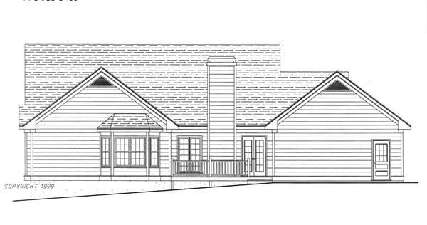Этот прекрасный проект одноэтажного дома  площадью  до 200 кв.м с гаражом на 2 машины и с 3 спальнями подходит для строительства дома с цокольным этажом на склоне .