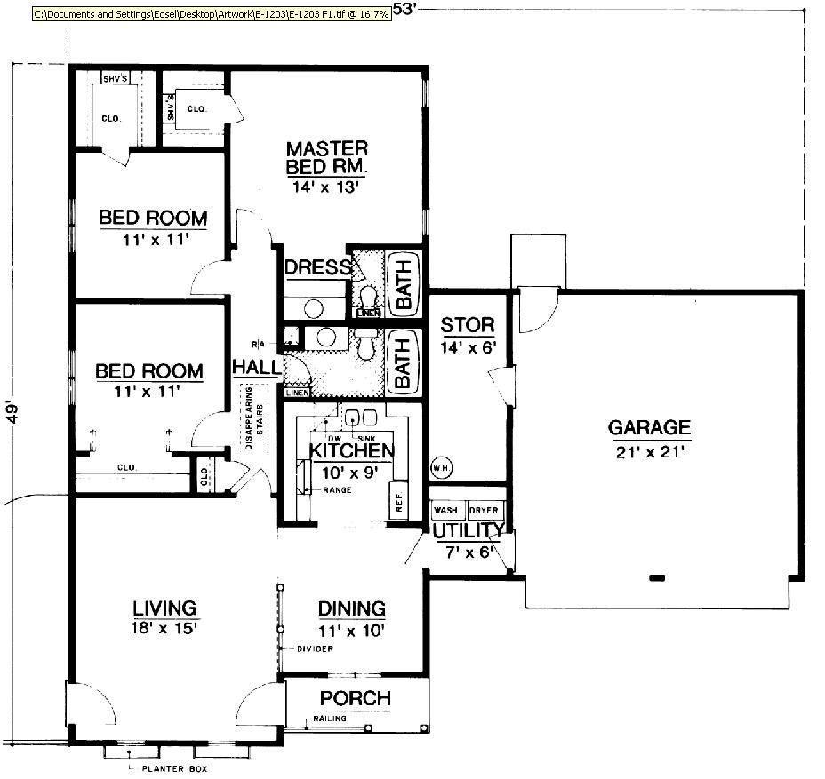 Этот практичный проект одноэтажного дома в дачном стиле площадью  до 150 кв.м с гаражом на 2 машины и с 3 спальнями подходит  для дачи . Также перед домом есть веранда..
