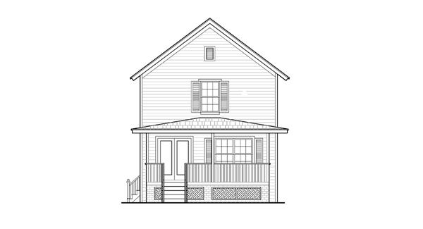 Вид сзади План одноэтажного каркасного дома с мансардой 7x15 134 кв м