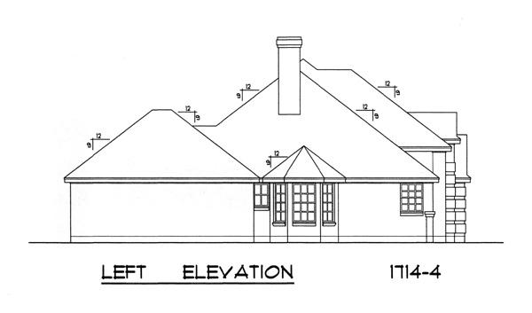Вид слева План 1-этажного дома 17x16 159 кв м