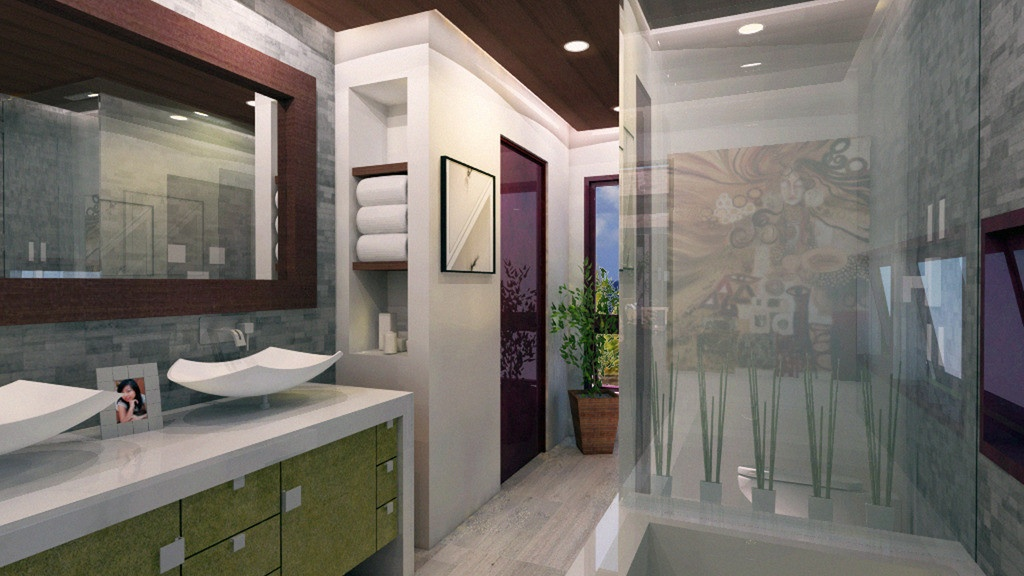 Этот удобный проект одноэтажного дома в современном стиле8 метров площадью  до 100 кв.м с 2 спальнями подходит для постоянного проживания. Также перед домом есть веранда..