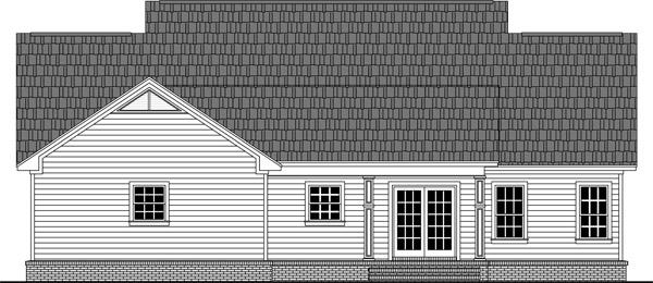 Отличный проект одноэтажного дома в стиле кантри площадью  до 200 кв.м с гаражом на 2 машины и с 3 спальнями подходит для постоянного проживания. В большой спальне есть ванная. Также перед домом есть веранда..