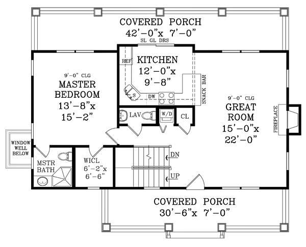 План 1 этажа Проект 2-этажного дома 13x11 209 кв м