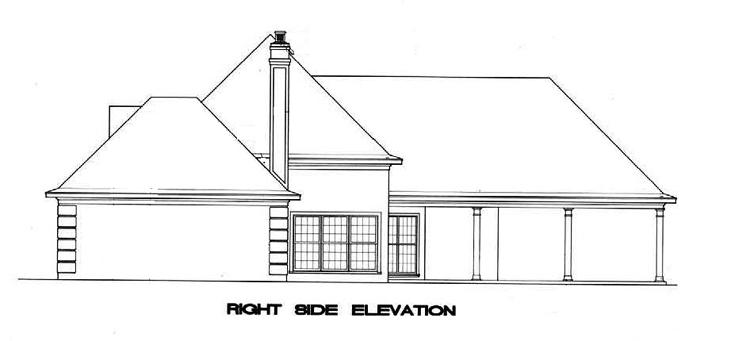 Вид справа План 1-этажного дома 22x20 188 кв м