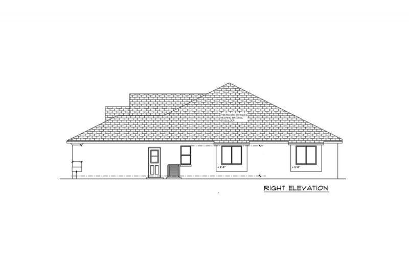 Отличный проект одноэтажного дома из бетонных блоков в средиземноморском стиле площадью  до 200 кв.м с гаражом на 2 машины и с 3 спальнями подходит для постоянного проживания.