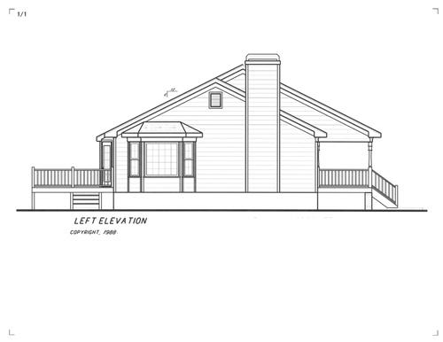 Вид слева Проект одноэтажного дома в скандинавском стиле с гаражом в подвале