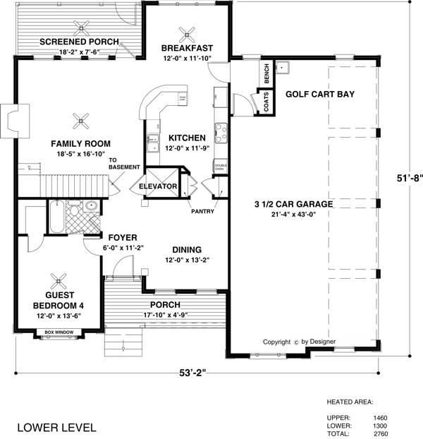 Проект каркасного дома План 2-этажного дома 16x16 256 кв м