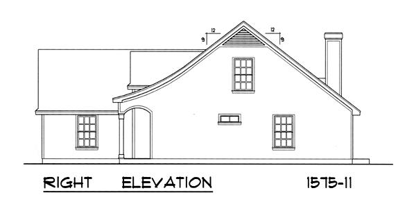 Вид справа План 1-этажного дома 16x15 146 кв м